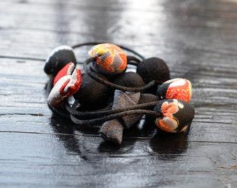 KiMonoMono necklace black/red/gray