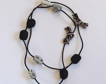 KiMonoMono necklace black/white