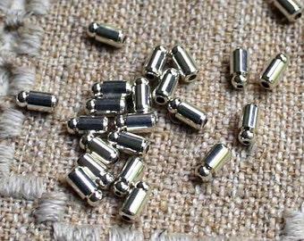 100pcs Earwire Nuts Stopper Earnuts Silver Plated Brass Rubber Barrel