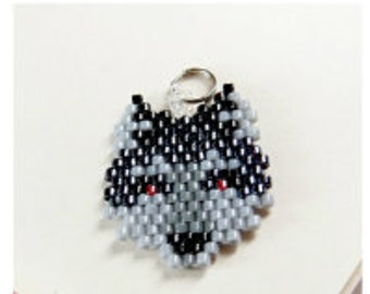 Seed Bead Wolf Pattern, Brick Stitch Bead Weaving | DIGITAL FILE