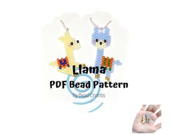 Llama Brick Stitch Bead Pattern, PDF Digital Download - P2151090