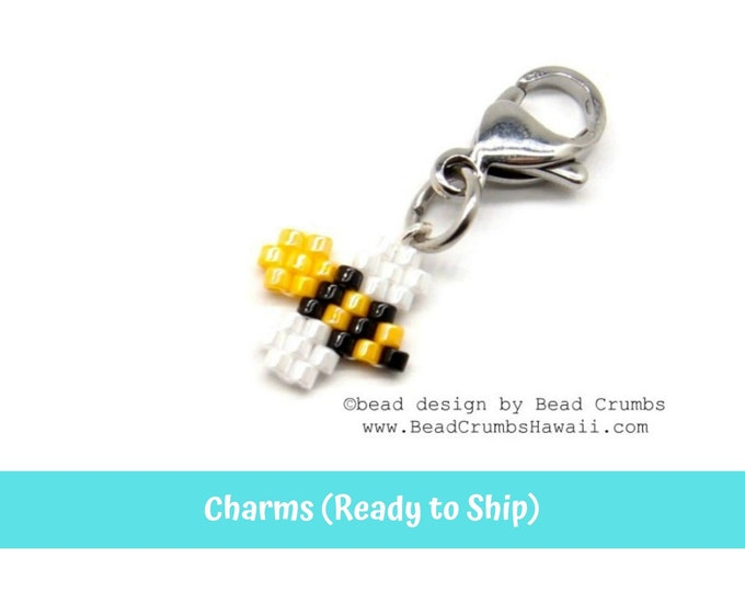 Mini Beaded Honey Bee Cute Insect Planner Notebook Bag Charm