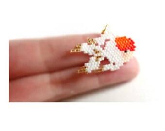 PATTERN Oranda Goldfish, Delica Beads, Brick Stitch Weaving