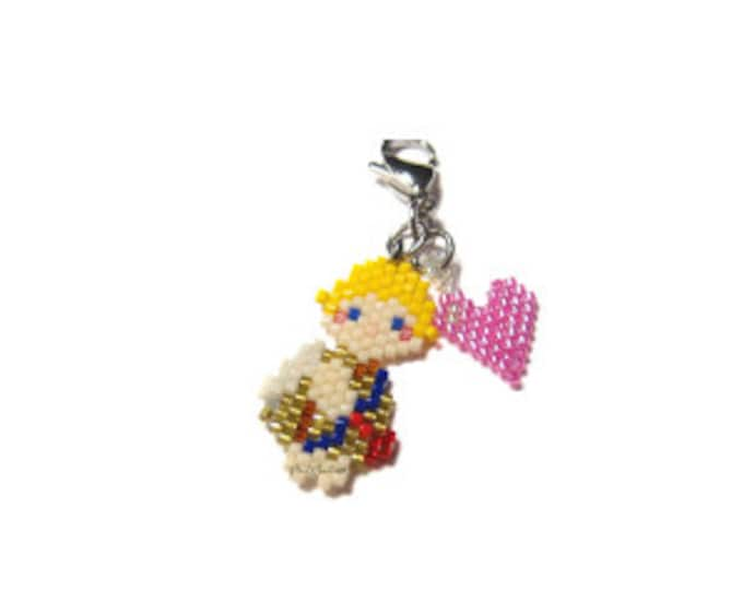Valentines Cupid Brick Stitch Bead Pattern   DIGITAL DOWNLOAD