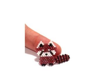 Red Panda PATTERN, Brick Stitch Beading, Cute Animal Bead Design