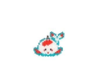 Cute Chubby Koi Bead PATTERN, Japanese Carp Fish, Miyuki Beading   Digital Pattern