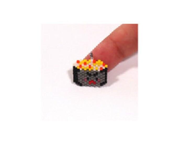 Scallop Sushi Bead Pattern, Cute Oriental Foods, Brick/Peyote Stitch Beading | Digital File