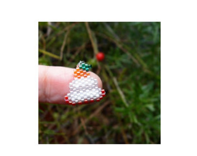 Mochi Charm Bead PATTERN, Japanese Food, New Years Good Luck