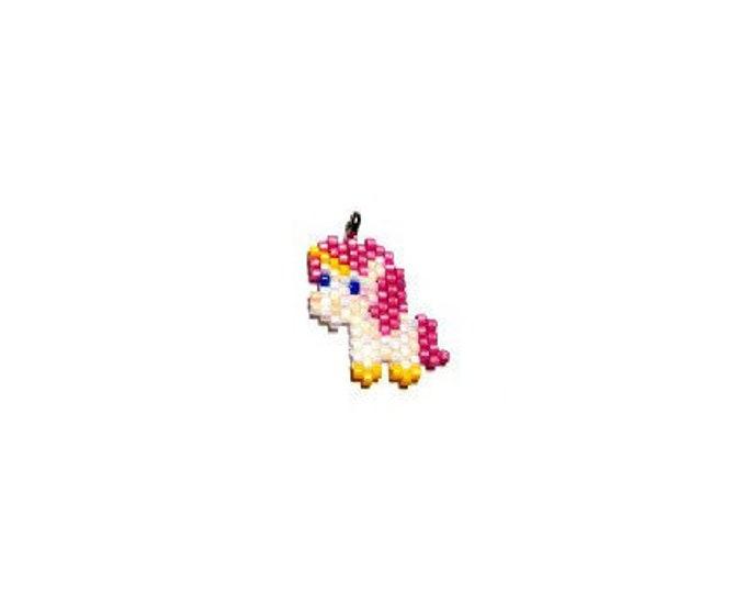 Unicorn Brick Stitch Bead PATTERN | Printable Digital Download