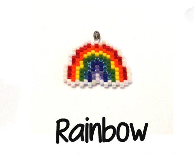 Rainbow Bead Pattern, Peyote / Brick Stitch Bead Weaving | DIGITAL DOWNLOAD