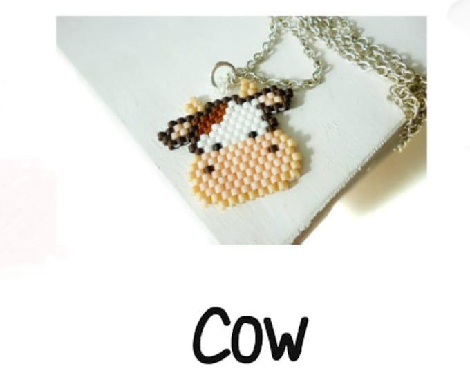 Cow Bead Pattern, Brick Stitch Bead Weaving | Digital Download