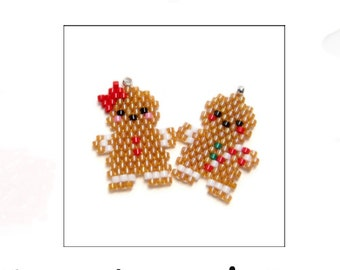 Christmas Gingerbread Couple, Brick Stitch Design Pattern | DIGITAL DOWNLOAD