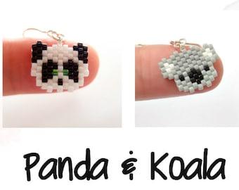 Bead Patterns - Mini Panda & Cute Koala, Peyote / Brick Stitch Bead Weaving | DIGITAL DOWNLOAD