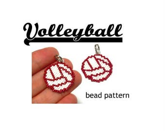 Volleyball Beading Pattern, Brick Stitch Bead Weaving