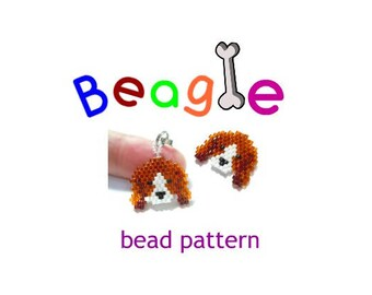 Beagle Dog Brick Stitch Bead Weaving PATTERN | DIGITAL DOWNLOAD