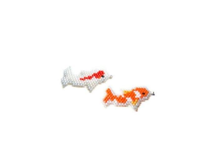 Japanese Carp (Koi) Fish Brick Stitch Bead PATTERN   DIGITAL DOWNLOAD