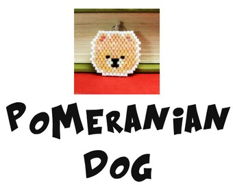 Pomeranian Dog Seed Bead PATTERN, Brick Stitch | DIGITAL DOWNLOAD