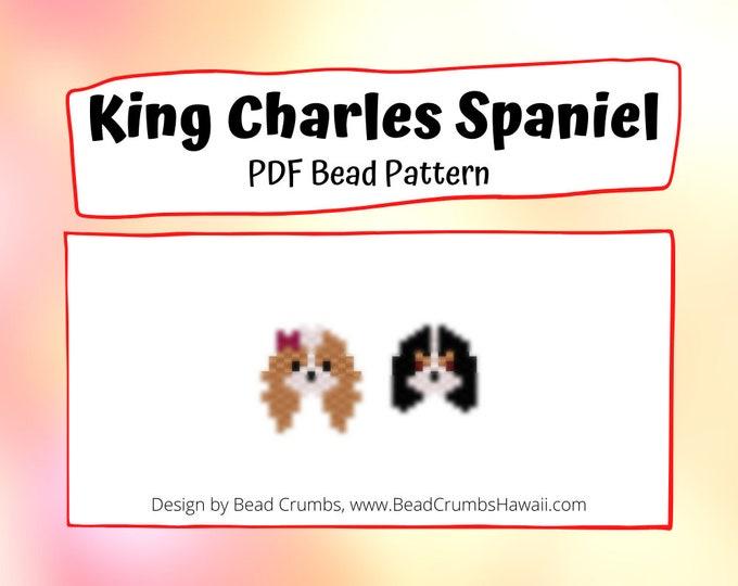 Cavalier King Charles Spaniel Beading Pattern, Peyote / Brick Stitch Dog, Digital File