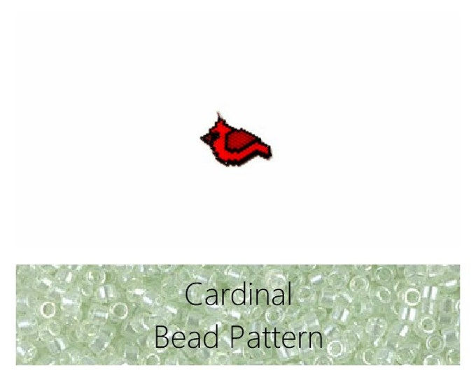 Red Cardinal Brick Stitch Bead Pattern | Printable Digital File