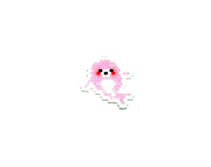 Pink Seal Brick Stitch Beading PATTERN | DIGITAL DOWNLOAD