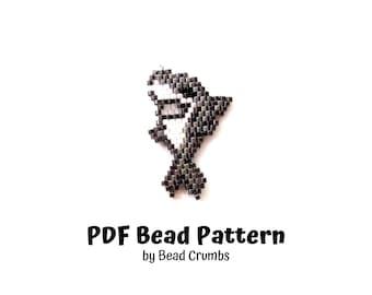 Tiger Shark Brick Stitch Bead PATTERN   PDF Digital Download P2161561