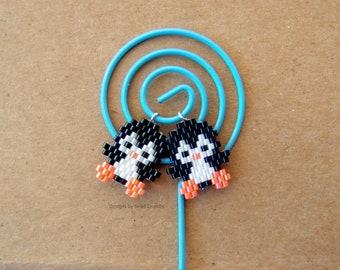 Micro Penguin Seed Bead Charm - One Piece