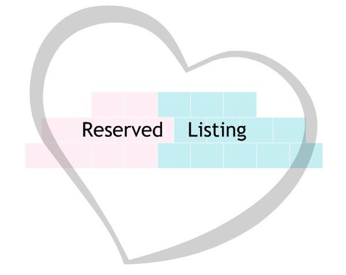 RESERVED LISTED printed patterns