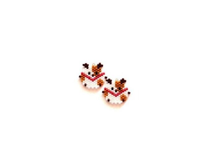 Cute Year of the Dog Brick Stitch Bead PATTERN