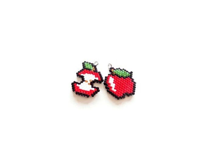 Brick Stitch Apples Beading PATTERN | DIGITAL DOWNLOAD