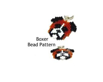 Boxer Dog Bead Pattern