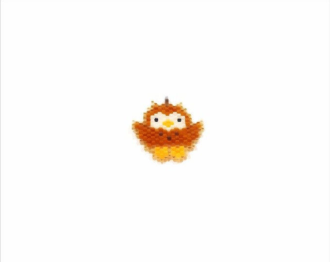 Owl Brick Stitch Bead PATTERN | Printable Digital Download