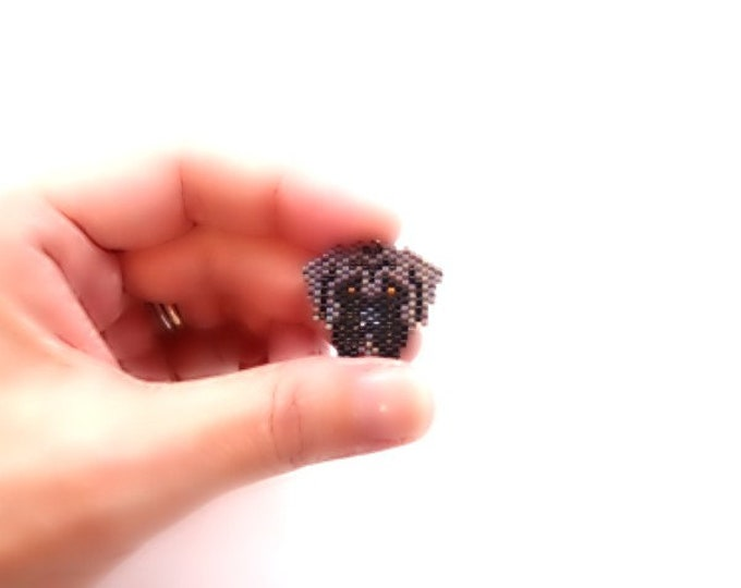 English Mastiff Dog Brick Stitch Bead Pattern