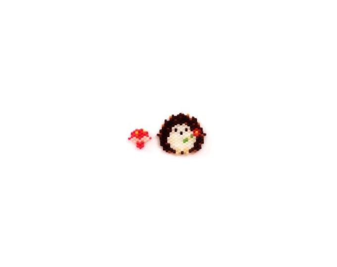 Brick Stitch Hedgehog & Mushroom Bead PATTERN | Printable Digital Download