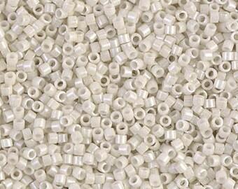 DB0211 Opaque Limestone Luster, Miyuki Delica Beads, Size 11/0, Mini 1 Gram Bag