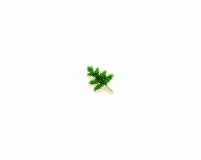 Lauae Fern Brick Stitch Plant Beading Pattern, Miyuki Delica Beads | Digital Download