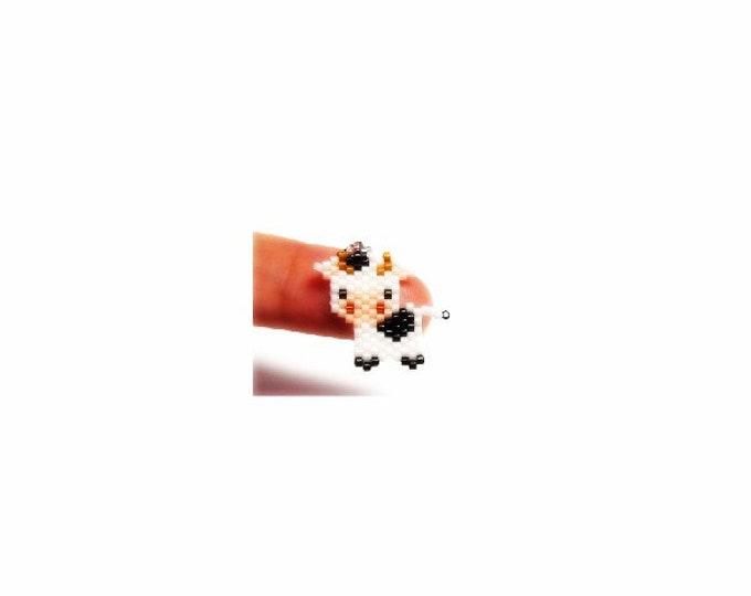 Cow Brick Stitch Bead PATTERN | DIGITAL DOWNLOAD