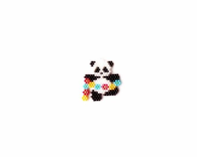 Panda with Garland Brick Stitch Bead PATTERN   Printable Digital Download
