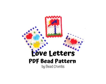 Love Letter Brick Stitch Bead Pattern, PDF Digital File