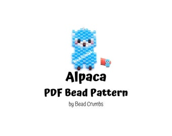 Alpaca Brick Stitch Bead Pattern, PDF Digital Download