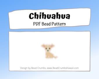 Chihuahua Dog Brick or Peyote Stitch Bead PATTERN | PDF Digital Download