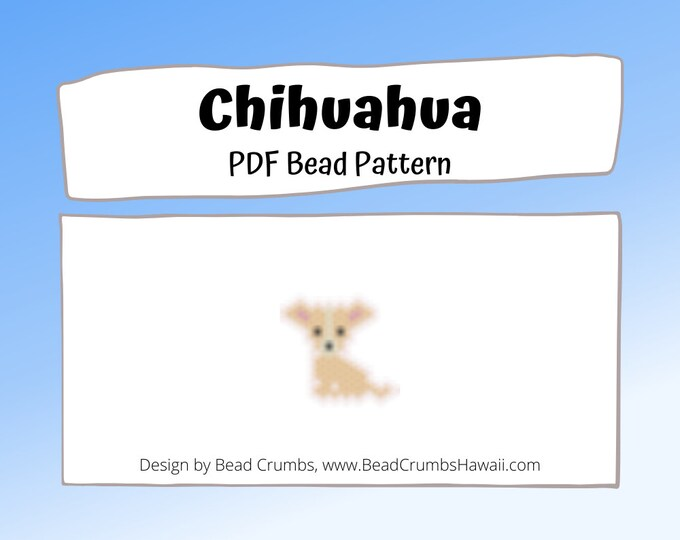 Chihuahua Dog Brick or Peyote Stitch Bead PATTERN | PDF Digital Download