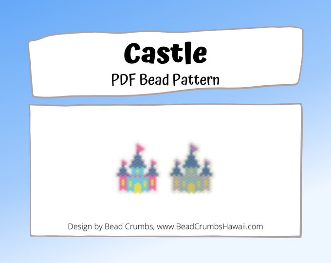 Castle Brick or Peyote Stitch Bead Pattern | PDF Digital Download
