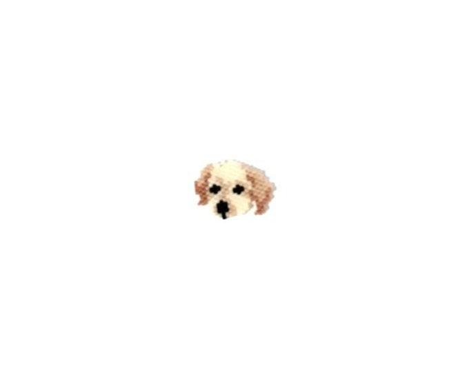 Golden Retriever Dog Brick Stitch Beading PATTERN | Printable Digital Download