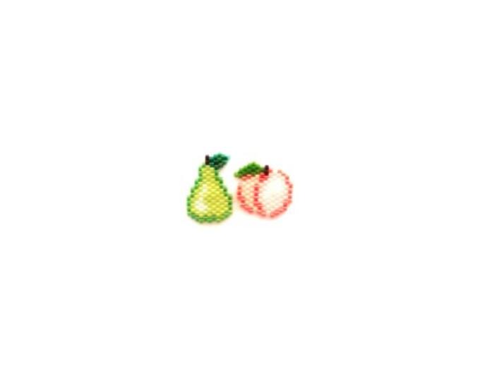 Peach & Pear Brick Stitch Bead PATTERN | Printable Digital Download