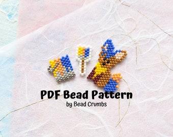 Painted Dog Paint Can Paintbrush Bead Pattern, Miyuki Weaving Diagram, Brick Stitch Charm, PDF Digital Download - P2158069