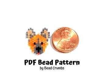 Bead Pattern German Shepherd Dog, Brick or Peyote Stitch Charm, Digital File P2138820