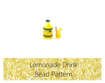 Brick Stitch Lemonade Bead Pattern | Printable Digital Download