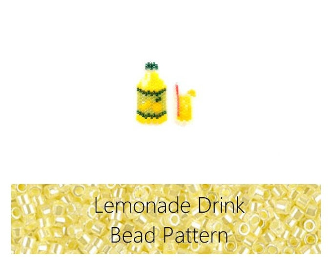 Brick Stitch Lemonade Bead Pattern | Printable Digital Download