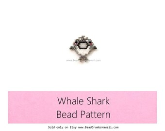 Whale Shark Bead Pattern, Brick Stitch Beading
