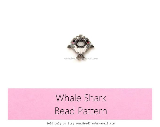 Whale Shark Bead Pattern, Brick Stitch Beading